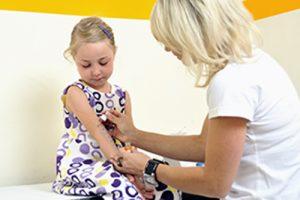 Allergietest bei einem Kind
