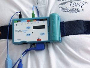 Detailaufnahme vom Schlafscreening-Gerät,